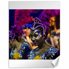 Costumed Attractive Dancer Woman At Carnival Parade Of Uruguay Canvas 12  X 16   by dflcprints
