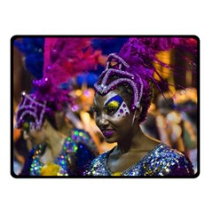 Costumed Attractive Dancer Woman At Carnival Parade Of Uruguay Fleece Blanket (small) by dflcprints