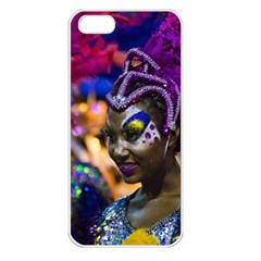 Costumed Attractive Dancer Woman At Carnival Parade Of Uruguay Apple Iphone 5 Seamless Case (white) by dflcprints
