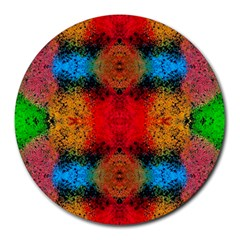 Colorful Goa   Painting Round Mousepads by Costasonlineshop