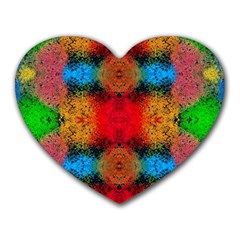 Colorful Goa   Painting Heart Mousepads by Costasonlineshop