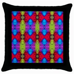 Colorful Painting Goa Pattern Throw Pillow Cases (black) by Costasonlineshop