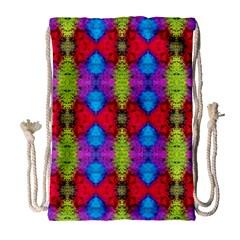 Colorful Painting Goa Pattern Drawstring Bag (large) by Costasonlineshop