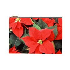 Poinsettia Cosmetic Bag (large)  by trendistuff