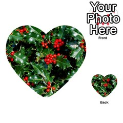 Holly 2 Multi Purpose Cards (heart)  by trendistuff