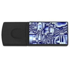 Reflective Illusion 01 USB Flash Drive Rectangular (2 GB)  by MoreColorsinLife