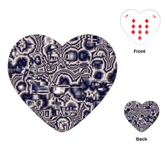 Reflective Illusion 04 Playing Cards (heart)  by MoreColorsinLife