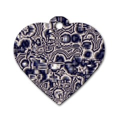 Reflective Illusion 04 Dog Tag Heart (two Sides) by MoreColorsinLife