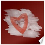 Romantic Watercolor Heart Red Canvas - Canvas 20  x 20