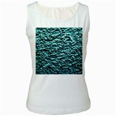 Green Metallic Background, Women s Tank Tops by Costasonlineshop