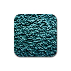 Green Metallic Background, Rubber Square Coaster (4 Pack)  by Costasonlineshop