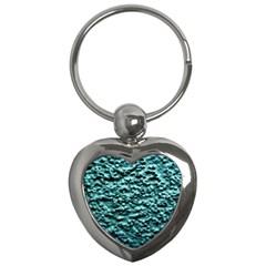 Green Metallic Background, Key Chains (heart)  by Costasonlineshop