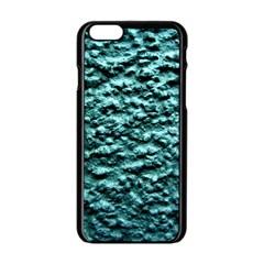 Green Metallic Background, Apple Iphone 6/6s Black Enamel Case by Costasonlineshop