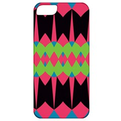 Rhombus And Other Shapes Pattern			apple Iphone 5 Classic Hardshell Case by LalyLauraFLM