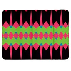 Rhombus And Other Shapes Pattern			samsung Galaxy Tab 7  P1000 Flip Case by LalyLauraFLM