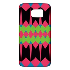 Rhombus And Other Shapes Pattern			samsung Galaxy S6 Hardshell Case by LalyLauraFLM