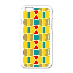 Colorful chains pattern			Apple iPhone 6/6S White Enamel Case by LalyLauraFLM