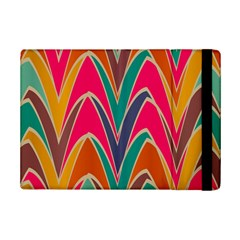 Bended Shapes In Retro Colors			apple Ipad Mini 2 Flip Case by LalyLauraFLM