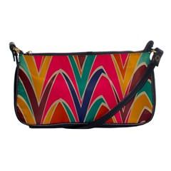 Bended Shapes In Retro Colorsshoulder Clutch Bag by LalyLauraFLM