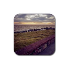 Playa Verde Coast In Montevideo Uruguay Rubber Coaster (square)  by dflcprints