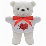 Sweet Red Patterned Heart Love - Teddy Bear