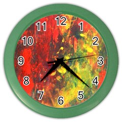 Wild Color Wall Clocks by timelessartoncanvas