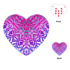 Ethnic Tribal Pattern G327 Playing Cards (heart)  by MedusArt