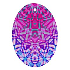 Ethnic Tribal Pattern G327 Oval Ornament (two Sides) by MedusArt
