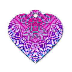 Ethnic Tribal Pattern G327 Dog Tag Heart (one Side) by MedusArt