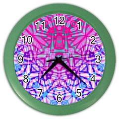 Ethnic Tribal Pattern G327 Color Wall Clocks by MedusArt