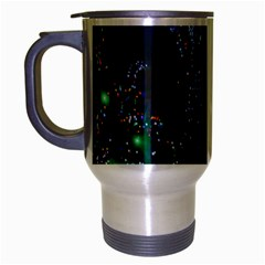CHRISTMAS LIGHTS 2 Travel Mug (Silver Gray) by trendistuff