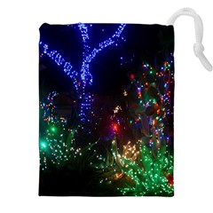 CHRISTMAS LIGHTS 2 Drawstring Pouches (XXL) by trendistuff
