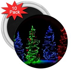 Christmas Lights 1 3  Magnets (10 Pack)  by trendistuff