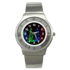 Christmas Lights 1 Stainless Steel Watches by trendistuff