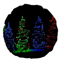 Christmas Lights 1 Large 18  Premium Round Cushions by trendistuff