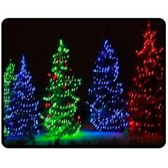CHRISTMAS LIGHTS 1 Double Sided Fleece Blanket (Medium)  by trendistuff