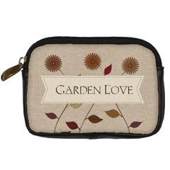 Garden Love Gardener Florist By Lucy   Digital Camera Leather Case   Gnal2s0zg8pm   Www Artscow Com Front