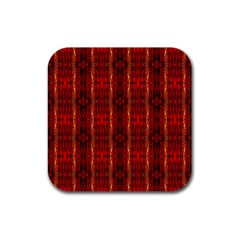 Red Gold, Old Oriental Pattern Rubber Square Coaster (4 Pack)  by Costasonlineshop