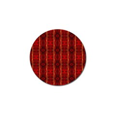 Red Gold, Old Oriental Pattern Golf Ball Marker (4 Pack) by Costasonlineshop
