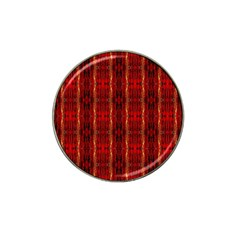 Red Gold, Old Oriental Pattern Hat Clip Ball Marker (4 Pack) by Costasonlineshop