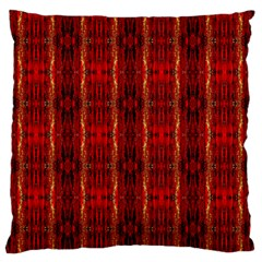 Red Gold, Old Oriental Pattern Standard Flano Cushion Cases (two Sides)  by Costasonlineshop