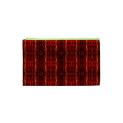 Red Gold, Old Oriental Pattern Cosmetic Bag (XS) by Costasonlineshop