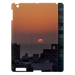 Aerial View Of Sunset At The River In Montevideo Uruguay Apple Ipad 3/4 Hardshell Case by dflcprints