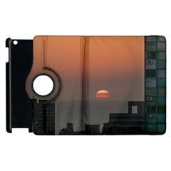 Aerial View Of Sunset At The River In Montevideo Uruguay Apple Ipad 3/4 Flip 360 Case by dflcprints