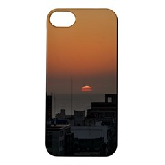 Aerial View Of Sunset At The River In Montevideo Uruguay Apple Iphone 5s Hardshell Case by dflcprints