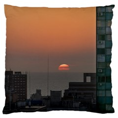 Aerial View Of Sunset At The River In Montevideo Uruguay Standard Flano Cushion Cases (one Side)  by dflcprints