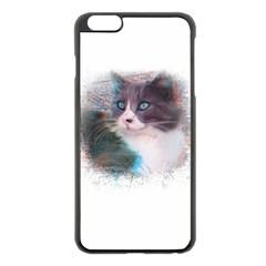 Cat Splash Png Apple Iphone 6 Plus/6s Plus Black Enamel Case by infloence