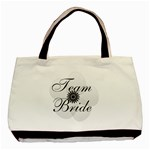 White Sheer Flower Team Bride - Basic Tote Bag