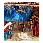 Christ Nativity Scene Template Preset formatted for Product: Shower Curtain - Shower Curtain 66  x 72  (Large)