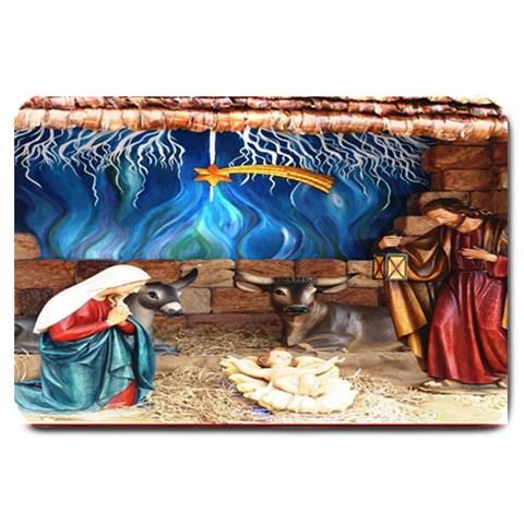 Christ Nativity Scene Matching  Doormat Template s Product By Pamela Sue Goforth   Large Doormat   Kzvui1jbfnl4   Www Artscow Com 30 x20 Door Mat - 1